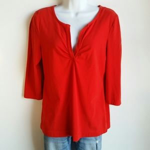 Kenneth Cole red 3/4 sleeve top size L